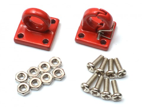 1/10 Scale RC Aluminum Tow Recovery Point Set (Red)