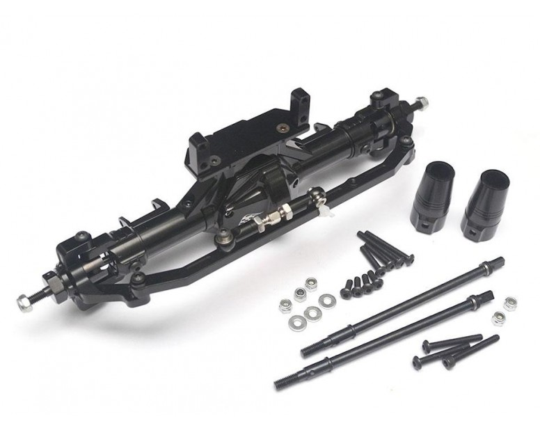 Complete Assembled Aluminum Convertible Front or Rear Axle Black