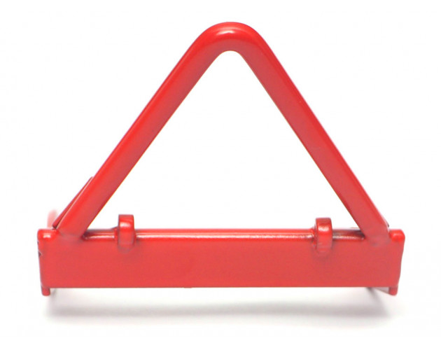 Steel Front Bumper A With Black Towing Hooks Red