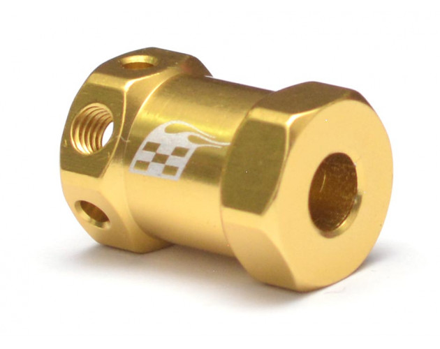 Aluminum Wheel Hex Widener V2 (4 pcs) (Offset: 14mm) Gold