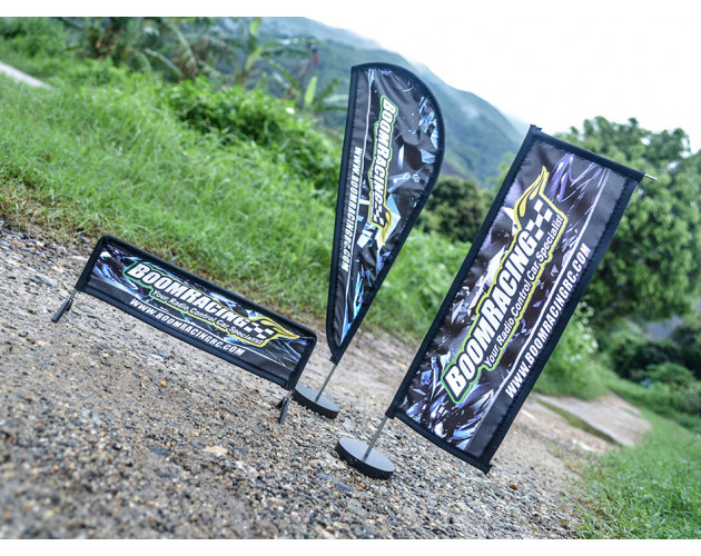 Scale Accessories - Boom Racing Curved Banner Flag 30x13cm