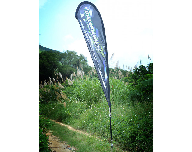 Feather Racing Flag with Tube - 1 Set