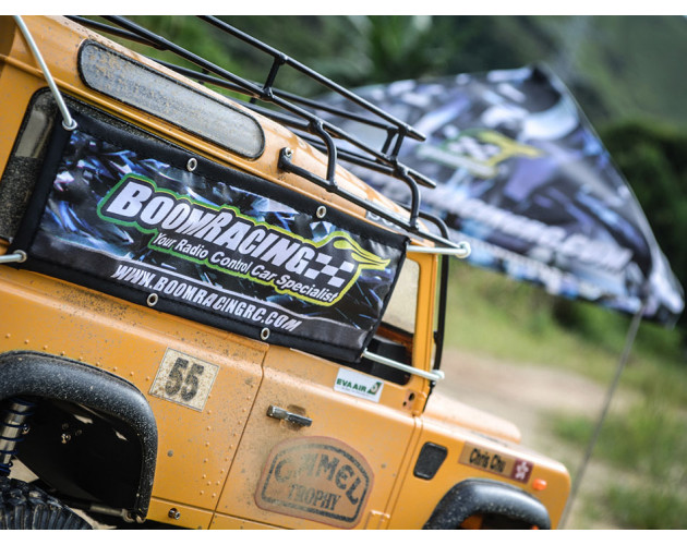 Scale Accessories - Boom Racing Banner 20x6cm
