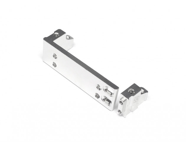 ScaleTrail™ Aluminum Adjustable One-Piece Servo Plate Mount Silver