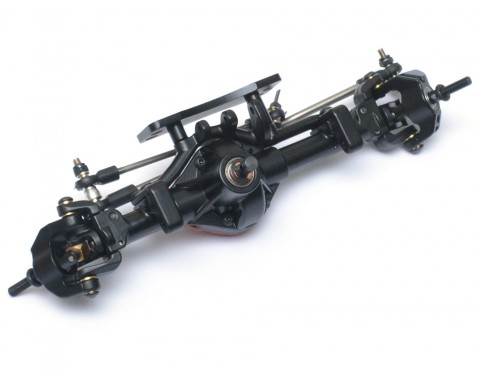 Complete Assembled Scale PHAT™ Front Axle Version 2 for D90/D110 Red