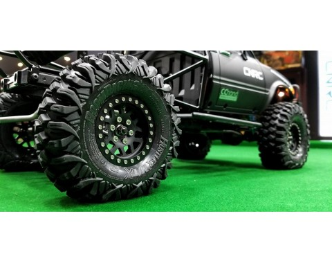 HUSTLER M/T Xtreme 1.9 Rock Crawling Tires (Snail Slime™ Compound) W/ 2-Stage Foams 4.45 X 1.57 (Super Soft)