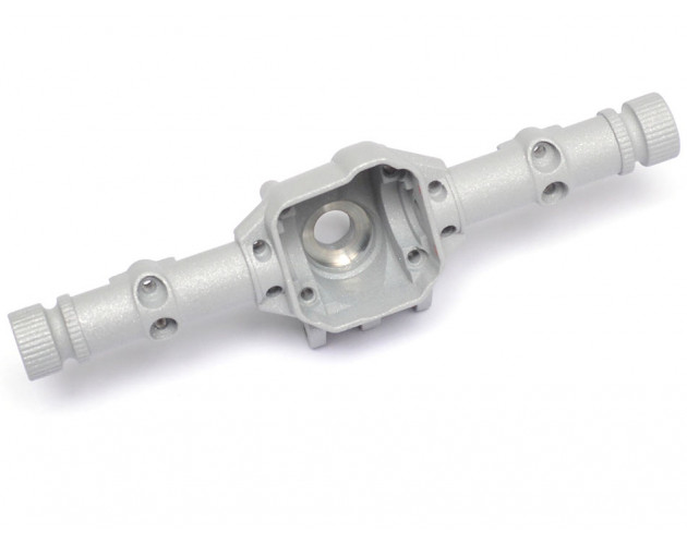 AR44 PHAT™ Axle Housing W/ ARMOUR™ Skid Plate 210grams Metallic Silver [RECON G6 The Fix Certified]