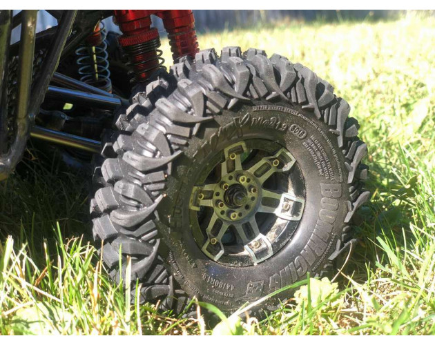 HUSTLER M/T Xtreme 1.9 MC2 Rock Crawling Tires 4.75x1.75 SNAIL SLIME™ Compound W/ 2-Stage Foams (Super Soft) [Recon G6 Certified] 2pcs