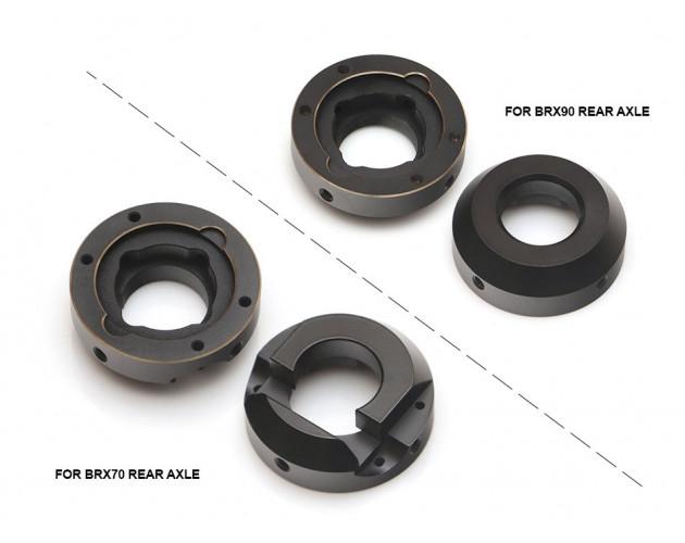 Brass Rear Knuckle Base Weights for BRX70 PHAT Axle (2)