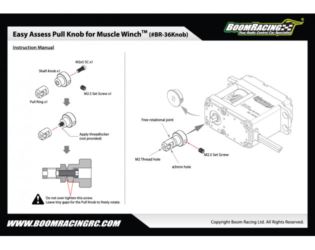 Easy Access Knob for Muscle Winch™