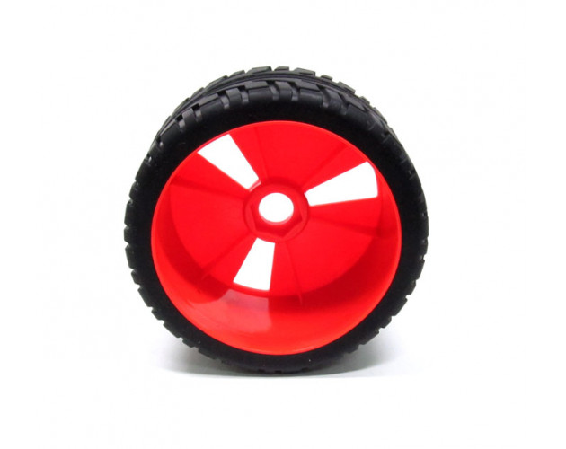 1/8 Buggy Wheel & Tire With Molded Inserts Pattern 3 (2) Red