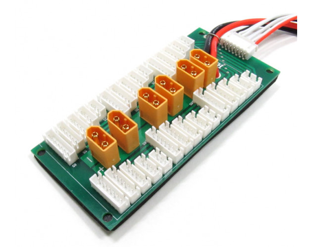 Parallel Charging Board For 6 Packs 2-6S (XT-60)