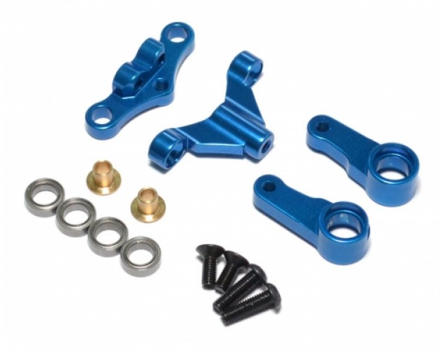 Aluminum Steering Assembly With Bearing - 1 Set  Blue