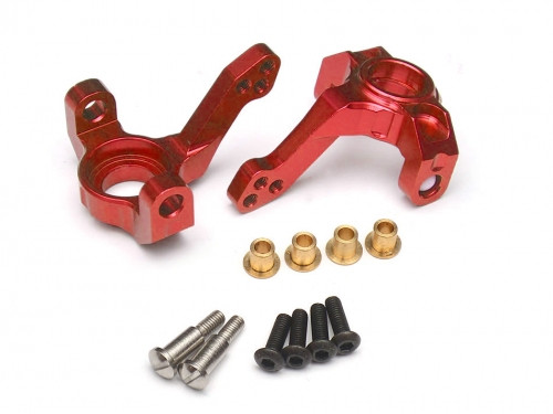 Aluminum Steering Knuckles - 2 Pcs Red [RECON G6 The Fix Certified]
