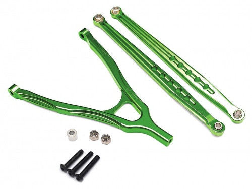 Aluminum Front Lower Chassis Linkage and Upper Y-Arm - 1 Set Red