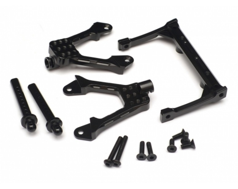 Aluminum Front Shock Tower Mount - 1 Set Black [RECON G6 The Fix Certified]