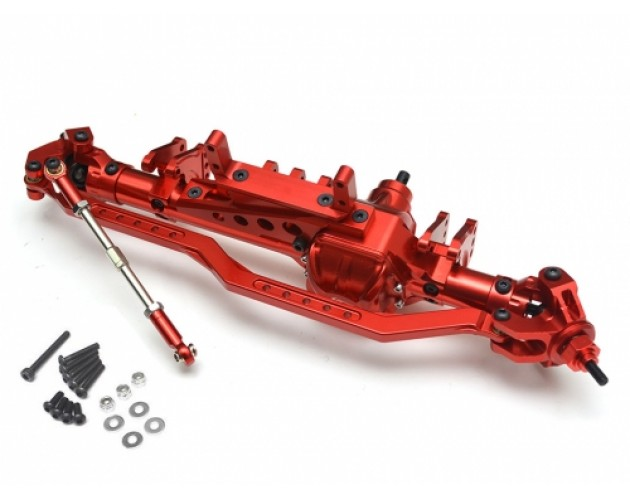 Complete Assembled Aluminum AR60 Front Axle Yeti Wraith Bomber Score Red