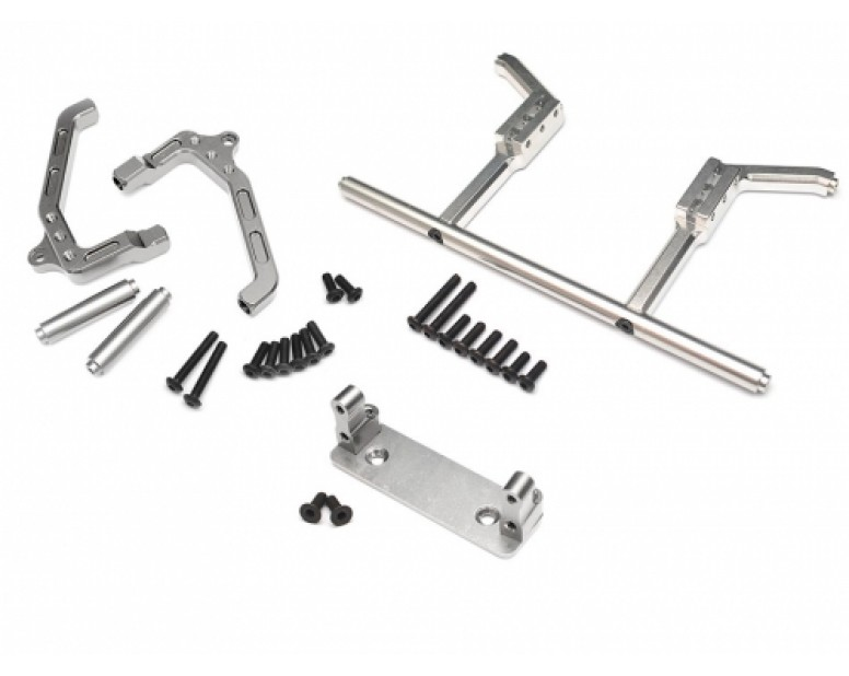 Axial Wraith Front & Rear Shock Mount And Servo Mount Combo Set Silver