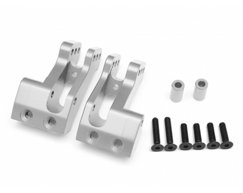 Aluminum Rear 4 Link Mounts - 1 Pair Silver