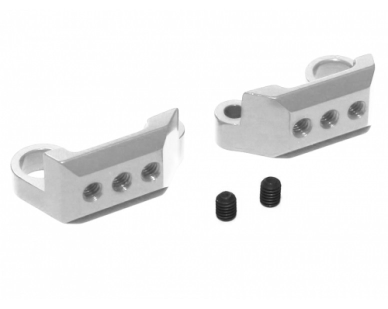 Aluminum Rear Sway Bar Mount Set - 1 Set Silver