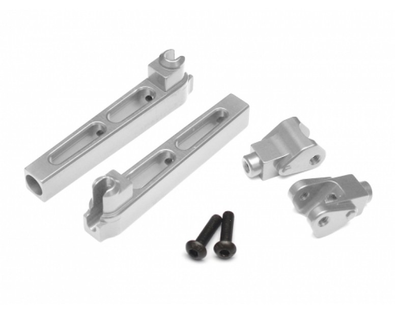 Aluminum Anti-Sway Bar Arms - 1 Pair Silver