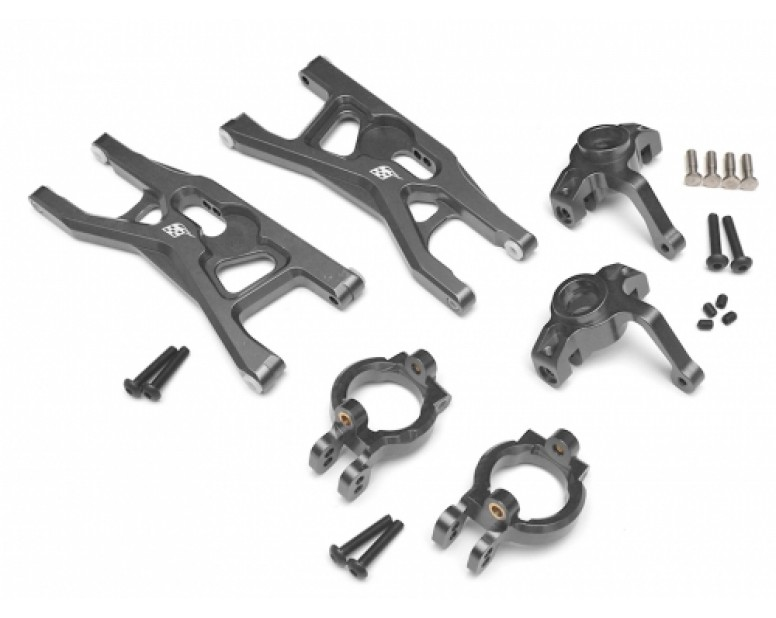 Axial Yeti Performance Combo Package A With Tool Box (Steering Knuckle,Front Steering Knuckle Caster Blocks,Front Control Arms Set) Gun Metal