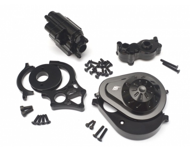 Axial Yeti Performance Combo Package B With Tool Box (Motor Mount,Transmission Spur Gear Cover Set,Transmission Case) Black
