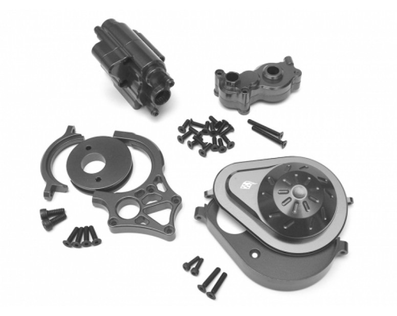 Axial Yeti Performance Combo Package B With Tool Box (Motor Mount,Transmission Spur Gear Cover Set,Transmission Case) Gun Metal