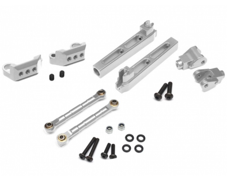 Axial Yeti Performance Combo Package D With Tool Box (Rear Sway Bar Mount,Anti-Sway Bar Arms,Anti-Sway Bar Links) Silver
