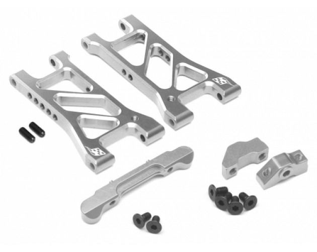 Performance Combo Package D Upgrade Set For D4 (Rear Separate Suspension Mount,Rear Suspension Mount,Rear Lower Suspension) Silver