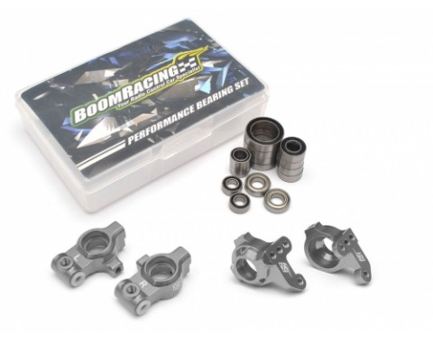 Performance Combo Package E Upgrade Set For D4 (Front Knuckles,Rear Hub Carrier,Bearing set) Gun Metal