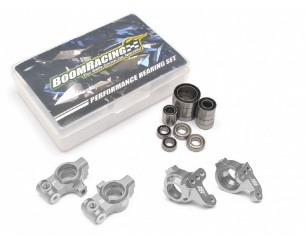 Performance Combo Package E Upgrade Set For D4 (Front Knuckles,Rear Hub Carrier,Bearing set) Silver