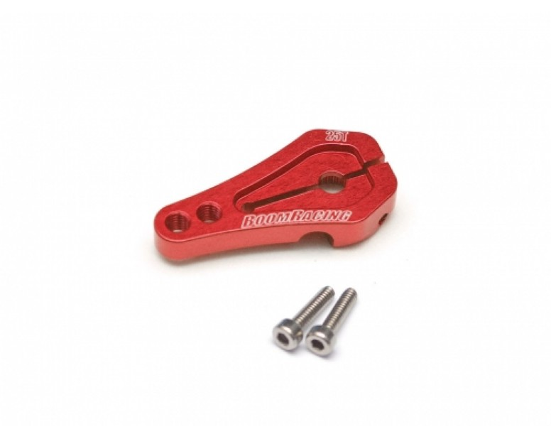 Aluminum Low Profile Servo Horn 25T Red