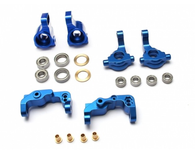 Aluminum Upgrade Steering Combo Set With Tool Box for RC10B5 - 3 Items Blue