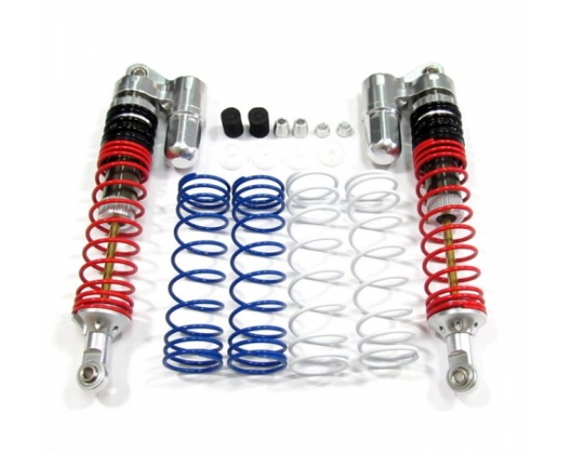 Boomerang™ Type PB Race Ready Aluminum Double Suspension Adjustable Piggyback Shocks 110MM Silver