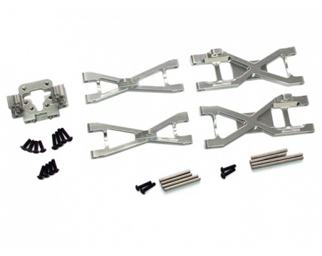 Boom Racing Torment Suspension Arm Combo Set - 3 Items With Tool Box  Silver
