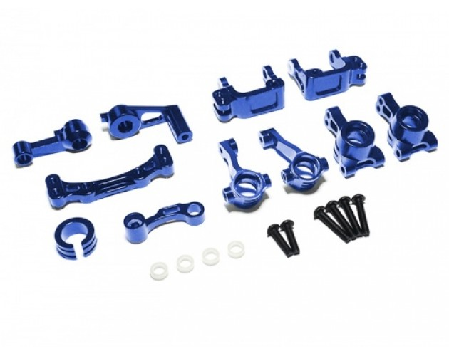 Boom Racing Torment Steering Combo Set - 4 Items With Tool Box Blue