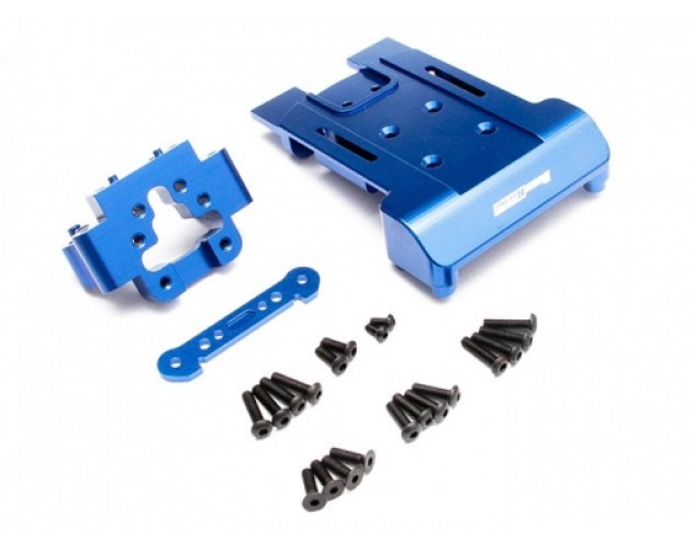 Boom Racing Torment Aluminum Suspension Arm Mount Combo with Tool  Box - 3 items Blue