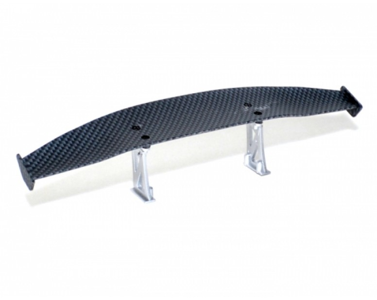 RC Toy 1/10th Scale CF Rear Spoiler Wing W/ Stands (#00474)