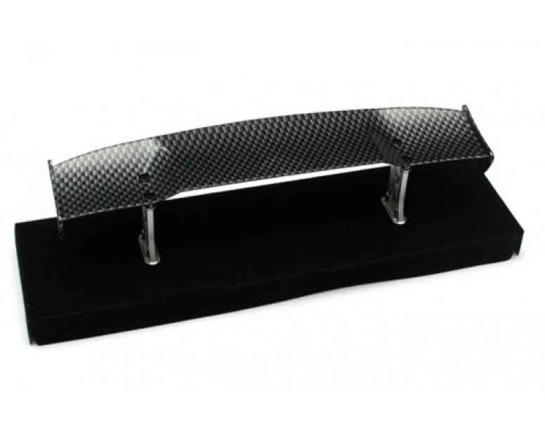 1/10th Scale RC Toy CF Rear Spoiler Wing W/ Stands (#00499)