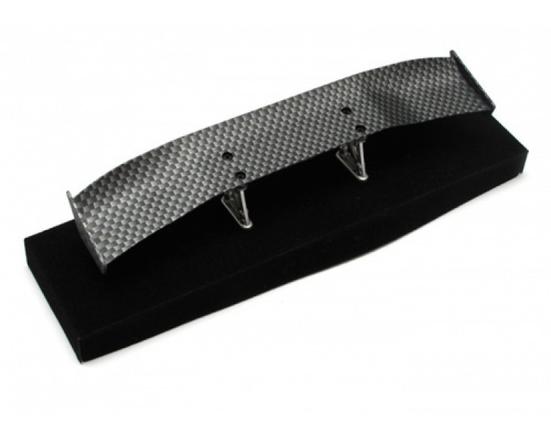 1/10th Scale RC Toy CF Rear Spoiler Wing W/ Stands (#00500)