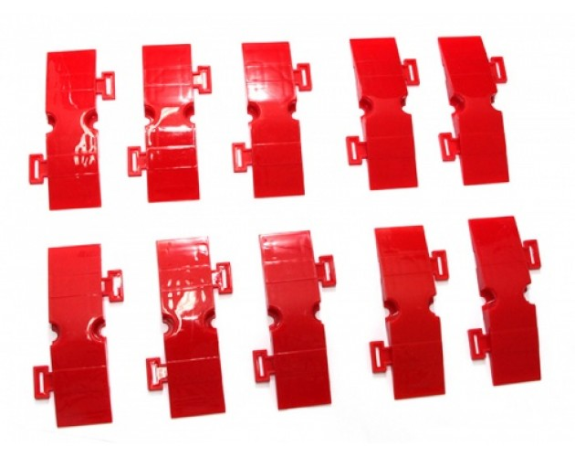 Small Drifted Track Parts (3*10cm 10 Pcs in 1 package) Red