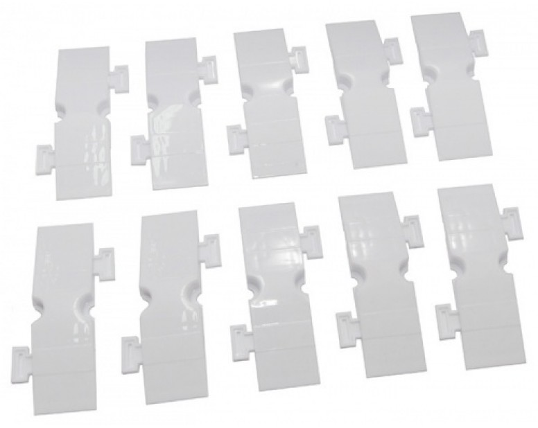 Small Drifted Track Parts (3*10cm 10 Pcs in 1 package) White