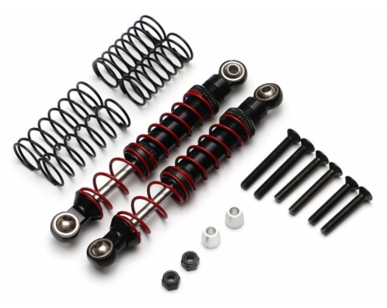 Front Aluminum Double Spring Shocks 80mm w/ Optional Soft Springs (2)