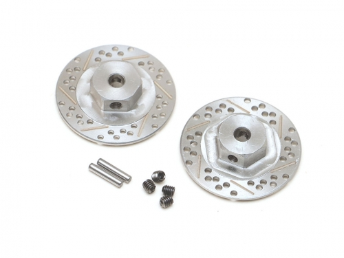 Stainless Steel Cross Drilled & Slotted Brake Disc 12mm Hex (2)