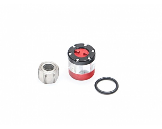 Universal Alum Wheel Center Cap - Locking Hub (1) Red (XT6 Series)