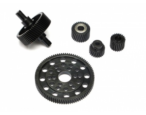 Heavy Steel Helical Pineapple Gear Set For Axial SCX10 [RECON G6 The Fix Certified]