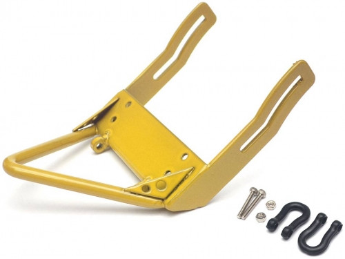 Steel Front Bumper A With Black Towing Hooks Yellow