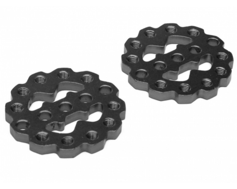 Rugged Gear Aluminum Universal Shock Ring Hoop 2Pcs Black