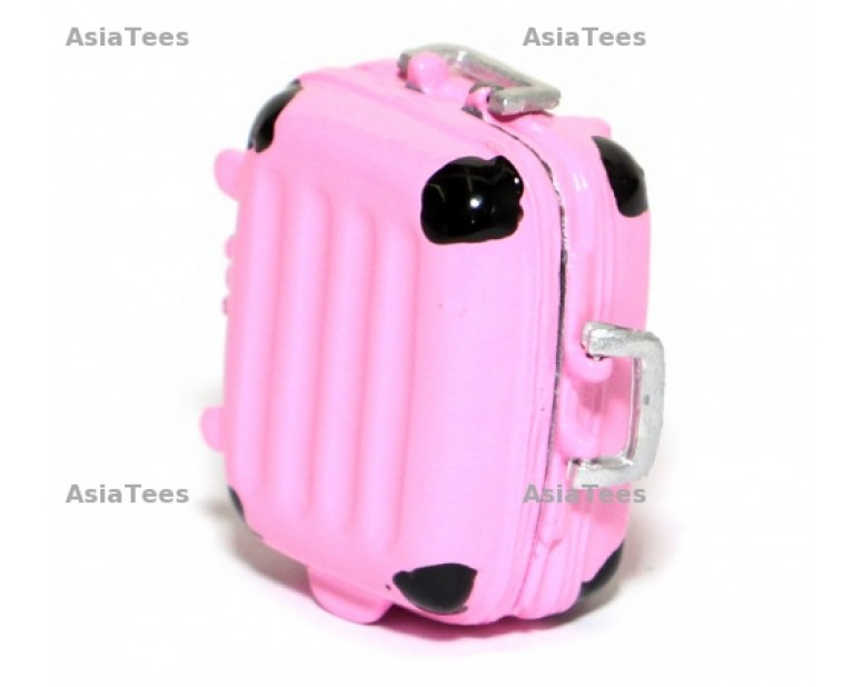 RC Scale Accessorie - Aluminum Colored Luggage Mini Size - Pink